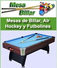 Billares, Futbolines y mesas de ping pong