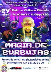 Espectáculo infantil Magia de Burbujas 29 abr