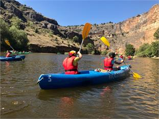 Canoa por las Hoces del Rio Duratón (Segovia)